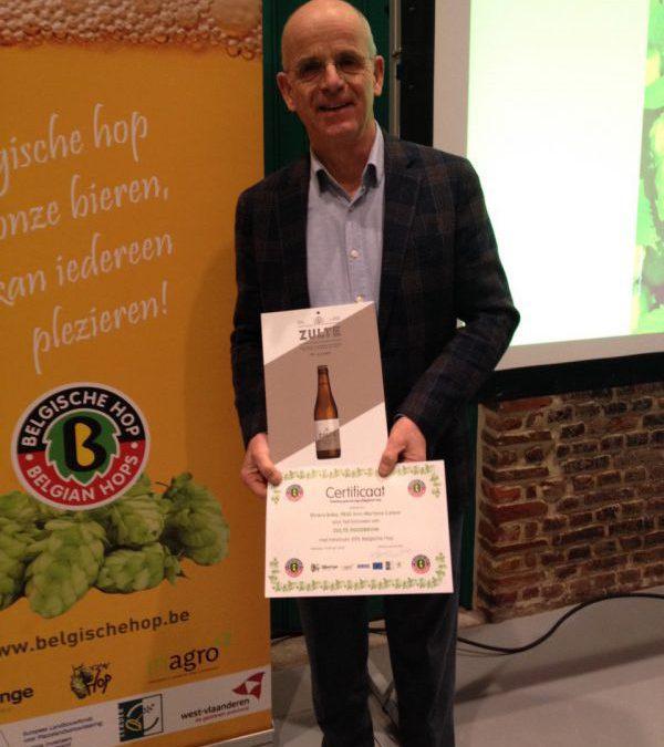 Zulte bier ontvangt het Belgische Hopcertificaat