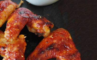 Knapperige kippenvleugels met oude geuze